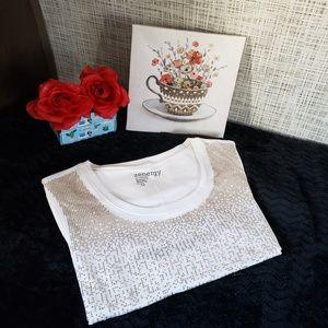 CHico's Zenergy top blouse 3/4 sleeve crewneck